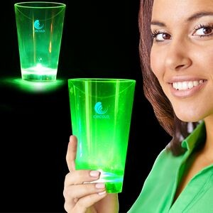 Green Neon Plastic LED Tumblers - 12 Ounce