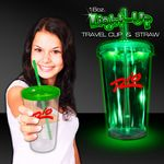 Custom Green Light Up Travel Cup