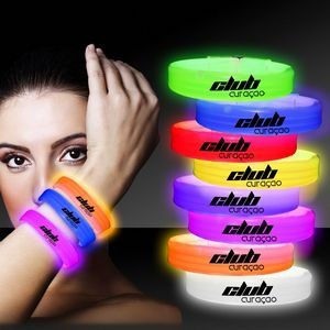 "9"" Deluxe Single Color Triple Wide Glow Bracelet"