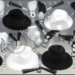 Custom Black and White Party Kit for 50