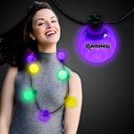 Custom Mardi Gras LED Ball Necklace