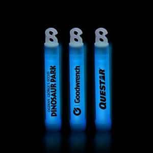 4 Premium Blue Glow Stick