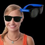 Custom Neon Sunglasses with Blue Arms
