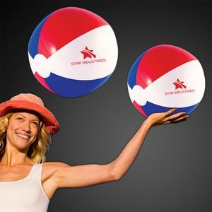 "16"" Inflatable Red/White/Blue Beach Ball"
