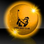 Custom Yellow Night Flyer Golf Ball