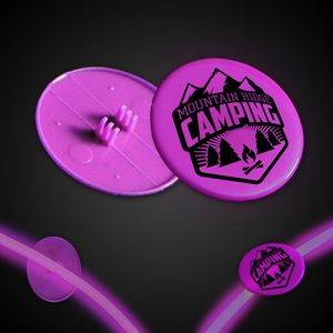 Pink 1 1/2 Clip-On Medallion