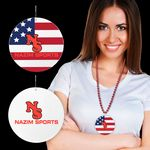 Custom American Flag Plastic Medallions - 2 1/2