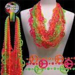 Custom Peace Sign Neon Beads