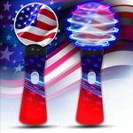 Custom Patriotic LED Spinner Wand