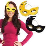 Custom Mardi Gras Velour Masks
