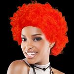 Custom Adult Size Team Spirit Wig (Red)