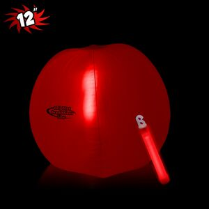 12 Inflatable Beach Ball w/ Red Light Stick