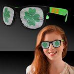Custom Shamrock Neon Green Billboard Sunglasses
