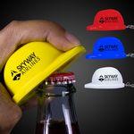 Custom Plastic Construction Hat Bottle Opener Key Chain