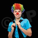 Custom Rainbow Clown Wig