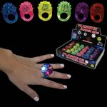 Custom Flower LED Jelly Rings Set
