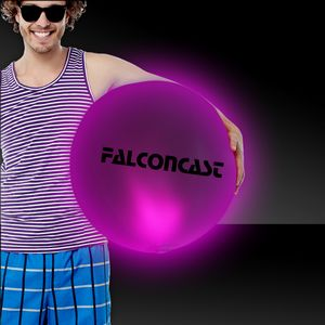 Pink 30 LED Inflatable Beach Ball