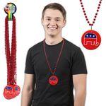 Custom Republican Bead Necklace