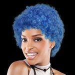Custom Adult Size Team Spirit Wig (Blue)