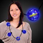 Custom Blue LED Ball Necklace