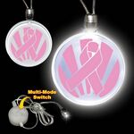 Custom Pink Ribbon LED Necklace