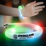 Custom Flashing LED Coil Tube Bracelet - 11 Inches