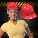 Custom Red Novelty Plastic Construction Hat