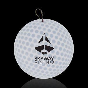 2 1/2 Golf Ball Plastic Medallion