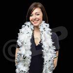 Custom 6' White/ Black Multi-Color Feather Boa