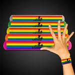 Custom Rainbow Pride Slap Bracelet