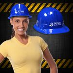 Custom Blue Plastic Construction Hat