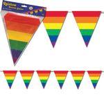 Custom Rainbow Pennant Banner Decoration