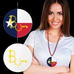 Custom Texas Flag Plastic Medallions - 2 1/2