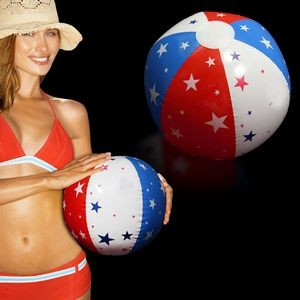 Inflatable Patriotic Stars Beach Ball
