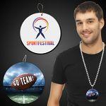 Custom Football Go Team Plastic Medallions 2 1/2