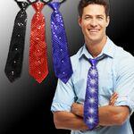 Custom Sequin LED 14 Inch Neckties