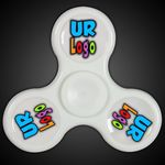 Custom Lit Light Up White Fidget Spinner