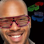 Custom LED Slotted EL Sunglasses - Variety of Colors