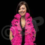 Custom 6' Pink/ Black Multi-Color Feather Boa