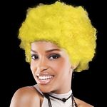 Custom Adult Size Team Spirit Wig (Yellow)