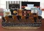 Custom Thank You Gift Basket-Black Brown