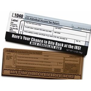 Bite Back at the IRS Milk Chocolate Wrapper Bar