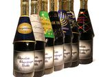 Custom Season's Greetings Chocolate Champagne Bottles