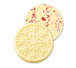 White Chocolate Snowflake with Candy Cane - 320099 ...