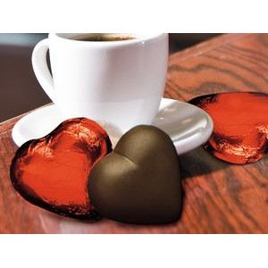 Red-Foiled DARK Chocolate Hearts
