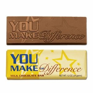 "You Make the Difference 2""x5"" Milk Chocolate Wrapper Bar"