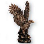Custom Antique Brass Resin Eagle Figure (8 1/2
