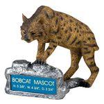 Custom Bobcat School Mascot Sculpture w/Engraving Plate