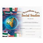 Custom Certificate of Social Studies