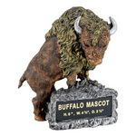 Custom Buffalo School Mascot Sculpture w/Engraving Plate